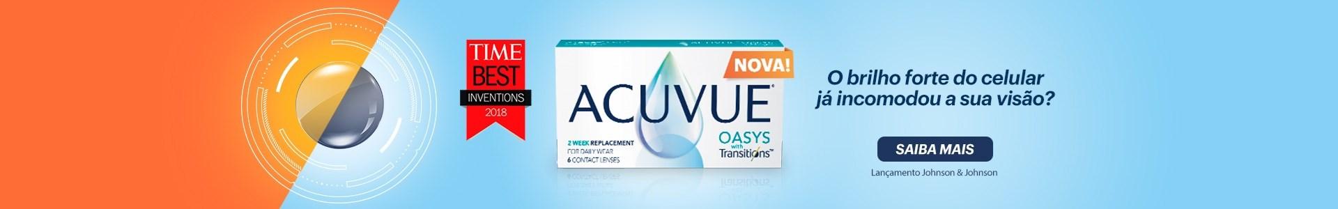 Lançamento Acuvue Oasys com Transitions