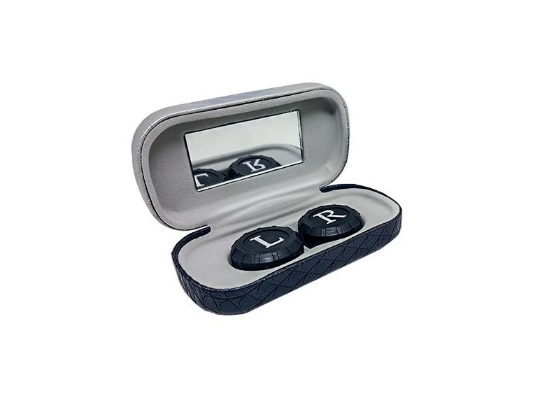 Estojo portátil com espelho para lentes de contato - Mini Estojo