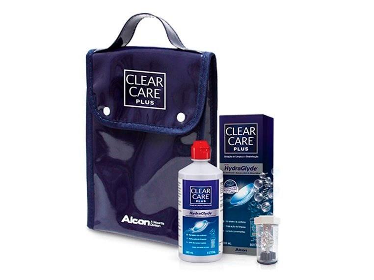 Kit Clear Care Plus com Hydraglyde - Solução para limpeza de lentes de contato