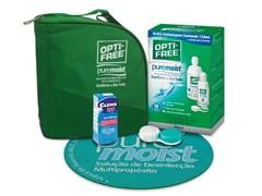 Kit Opti-Free Pure Moist solução para lentes de contato