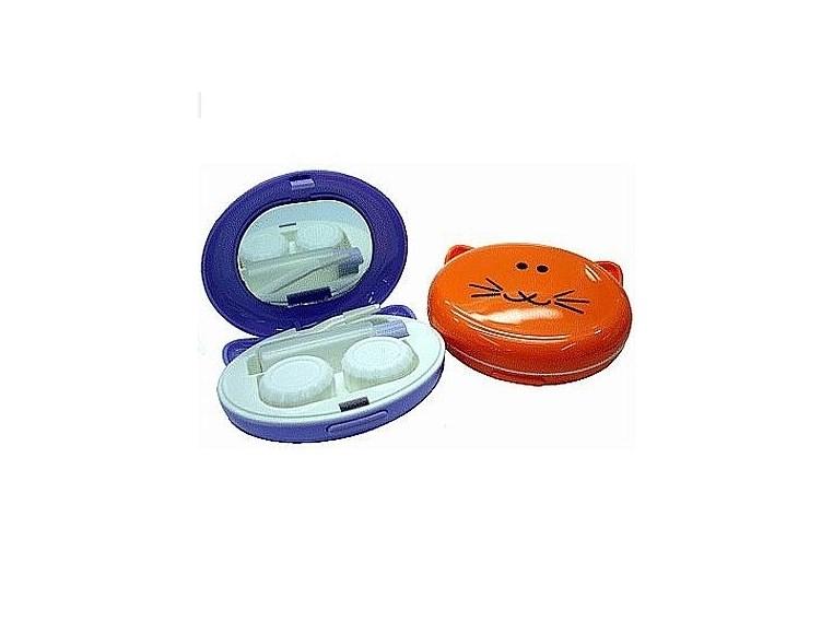 Kit portátil para lentes de contato modelo Gatinho A-606