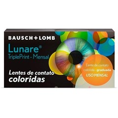 Lentes de Contato Colorida Lunare Tri-Kolor Mensal - COM GRAU