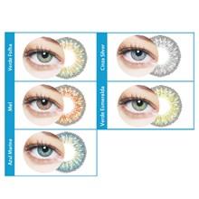 Lentes de contato coloridas Bioblue Multicolor 55 - Sem grau