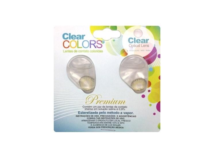 Lentes de Contato Coloridas CLEAR COLORS PREMIUM Mensal - SEM GRAU