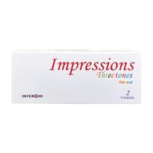 Lentes de contato coloridas Impressions Three Tones Mensal - Com grau