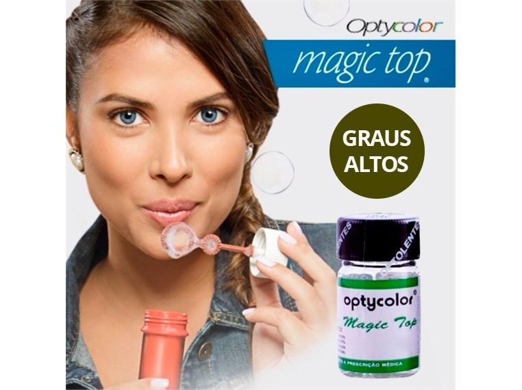 Lentes de Contato Coloridas Magic Top - Graus Altos