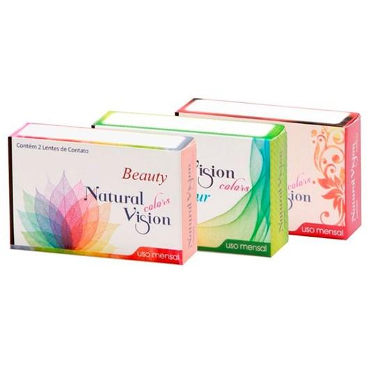 Lentes de Contato Coloridas Natural Vision Mensal - Sem Grau