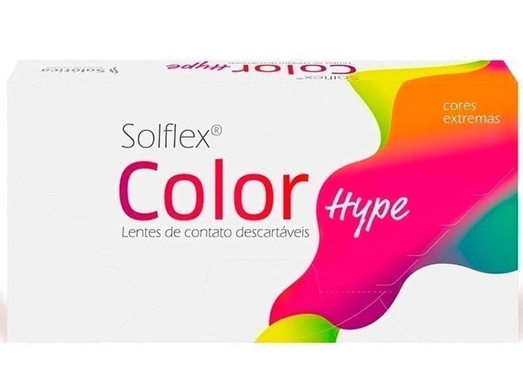 Lentes de Contato Coloridas SOLFLEX COLOR HYPE - SEM GRAU