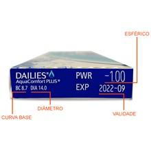 Lentes de contato Dailies AquaComfort Plus - Caixa com 10 lentes
