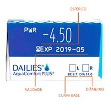 Lentes de contato Dailies AquaComfort Plus - Caixa com 30 lentes