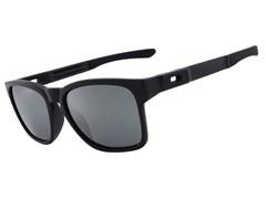 ... Óculos de Sol Oakley Catalyst 9272L-09 Polarizado Preto   Prata Iridium  Espelhada fd276642a5