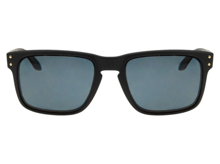 Óculos de Sol Oakley Holbrook 9102L-17 Polarizado Preto Fosco / Cinza