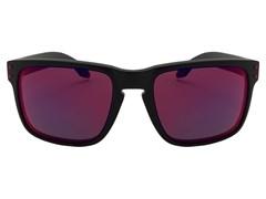 387fb0060cac5 Óculos de Sol Oakley Holbrook 9102L-36 Preto Fosco   Vermelho ...