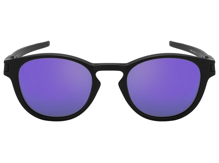 Óculos de Sol Oakley Latch 9265L-06 Preto   Roxo Espelhado - Minha ... 91b765b1d6