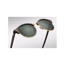 Óculos de Sol Ray-Ban Clubround RB4246 990 51 Tartaruga/Dourado