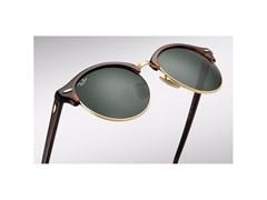 d836c8d3945fd ... Óculos de Sol Ray Ban Clubround RB4246 990 51 Tartaruga Dourado