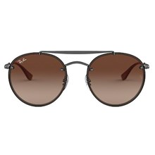 Óculos de Sol Ray Ban Round Double Bridge RB3614N 9144/13 54