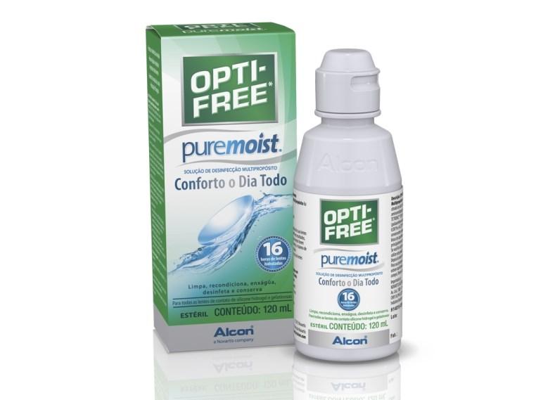 Opti-free Pure Moist 120 ml - Solução para lentes de contato