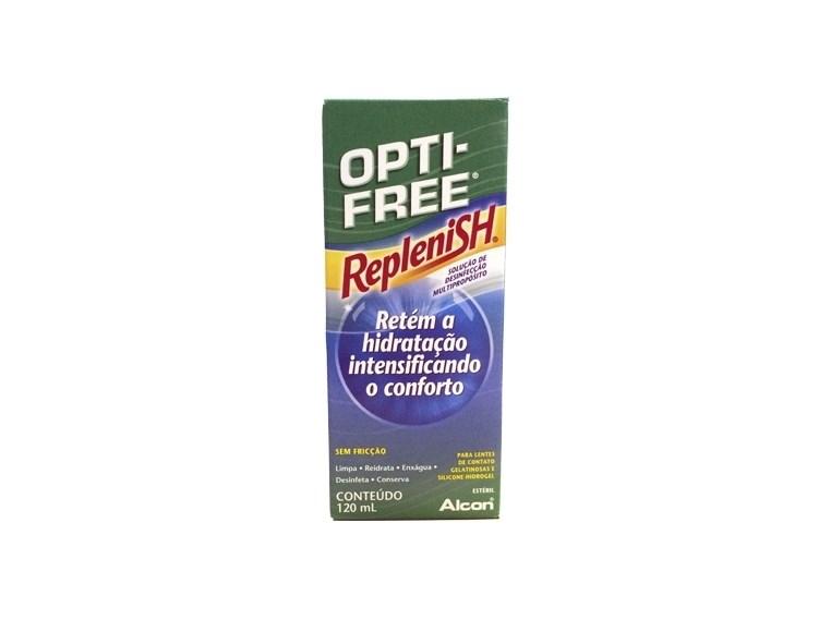 f77ad9f585 Opti-Free Replenish 120ml - Solução para lentes de contato - Minha ...